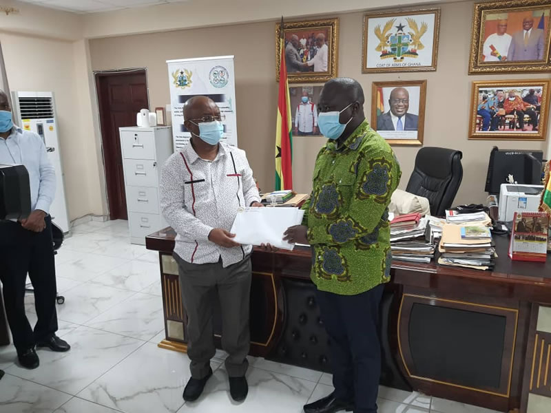 Chief Census Officer Pays Courtesy Call on the Volta Regional Minister